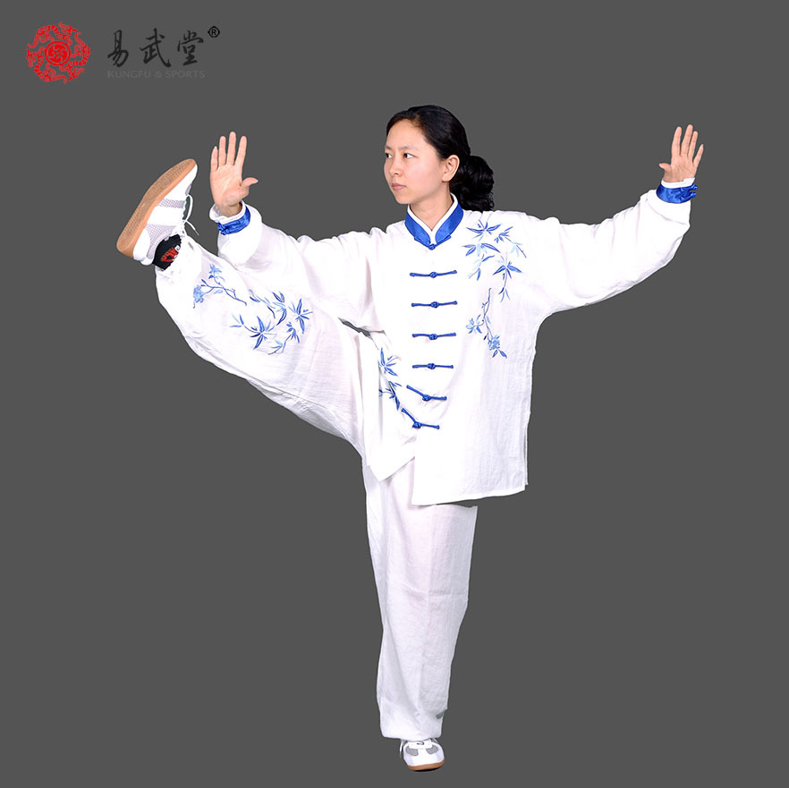 [yiwutang]chinese martial arts kung fu uniform and tai chi clothing wu shu suit free shipping new sale chinese kung fu suit women tai chi clothing 100