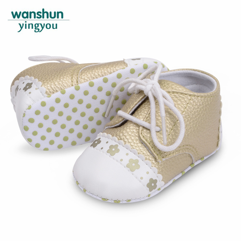 Baby girls boys first walker toddler infant new born little kids shoes PU leather soft sole sneaker crib shoe footwear moccasins