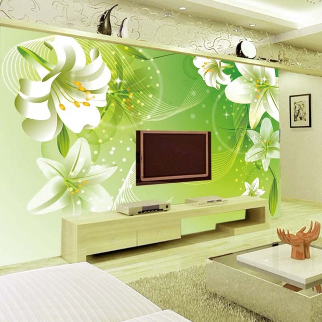 Magnet modern mural photo wallpaper decorative flowers contact paper ...