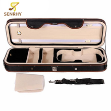 Senrhy 4/4 Violion Box Violin Case with Humidity Table Straps Locks Waterproof For Musical Instruments Lover Violin Parts Hot