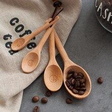 Kitchen Utensils Spoon Baking-Measuring-Spoons Meaure Tea-Scoop Coffee Wood Sugar-Spice
