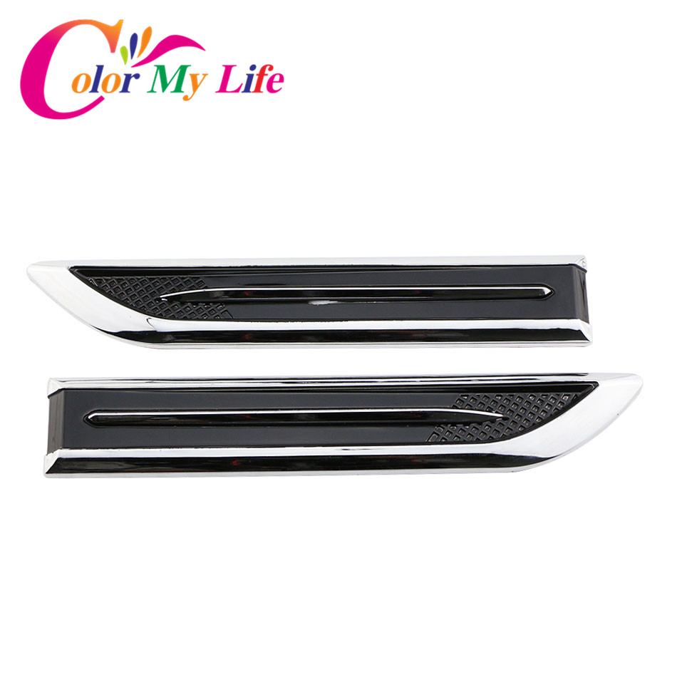 Color My Life ABS Chrome Car Side Stickers for Mercedes Benz C E S GLK SLK CLS Sl Class W203 W204 W211 W212 W210 Car Styling