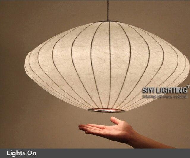Modern Design Bubble Saucer Small Lantern Flat Pendant Light D30 50 65cm For Dining
