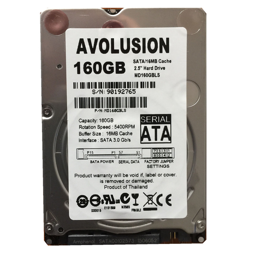 160GB SATA 2.5inch 5400RPM 16M Internal Hard Disk Drive For Laptop Notebook Warranty for 1-year 1tb 2 5 15mm height sata hard drive 5400rpm for pc tower server mini itx desktop machine warranty for 1 year