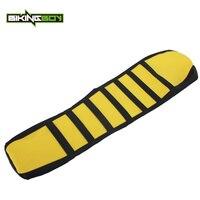 BIKINGBOY Yellow Black Motocross MX Offroad striped Ribbed Gripper Soft Seat Cover for SUZUKI RMZ 250 RMZ250 RM Z 250 10 11 2016|cover for|cover coverscovers for seats -