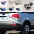 Для Kia Sorento 2009 2010 2011 2012 2013 2014 Автомобильная задняя крышка глушитель Конец выхлопной трубы из нержавеющей стали