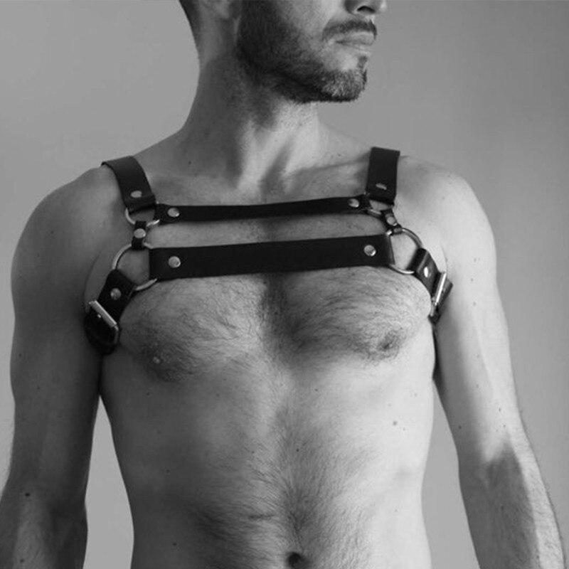 Adjustable Fashion Leather Belts Men Straps Restraint Harness Bdsm Bondage Body Suspenders Garter Club Cosplay Erotic Belt