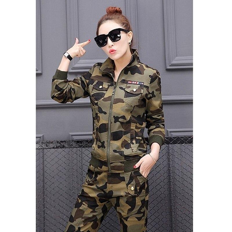YAGENZ Frühling Herbst Frauen Kleidung Set Student Camouflage 3 stücke Set langarm Tops + T Shirt + Hosen Plus größe Armee Grün 569 - 3