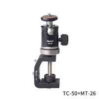 TC50+MT26 suits C clamp and tripod ball heads sets car windows skateboard camera clips sports DV aluminum tripod ball mount
