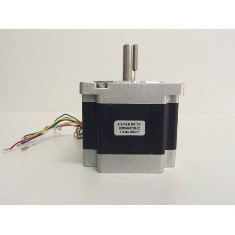 3pcs Nema34 Stepper Motor JK86HS115-4208 single shaft 8.7N.m (1232 oz/in) 4.2A motor length 115mm CNC Engraving3pcs Nema34 Stepper Motor JK86HS115-4208 single shaft 8.7N.m (1232 oz/in) 4.2A motor length 115mm CNC Engraving