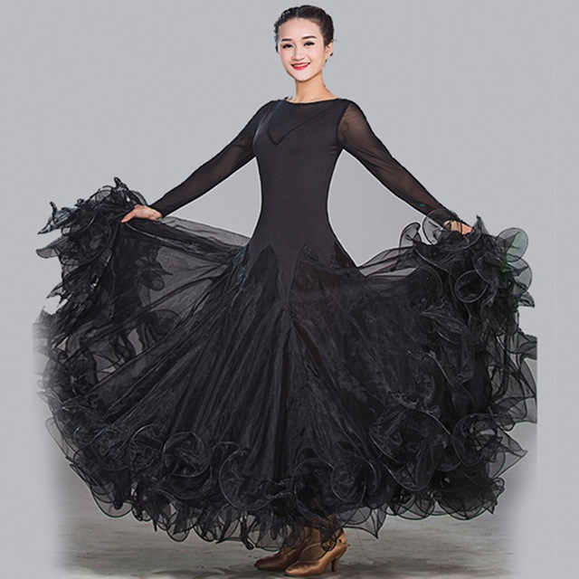 9 видов цветов, бальные платья для танцев, высокое качество, простой стиль, синий Танго, вальс, танцевальная юбка, Бальные танцы, конкурсные платья