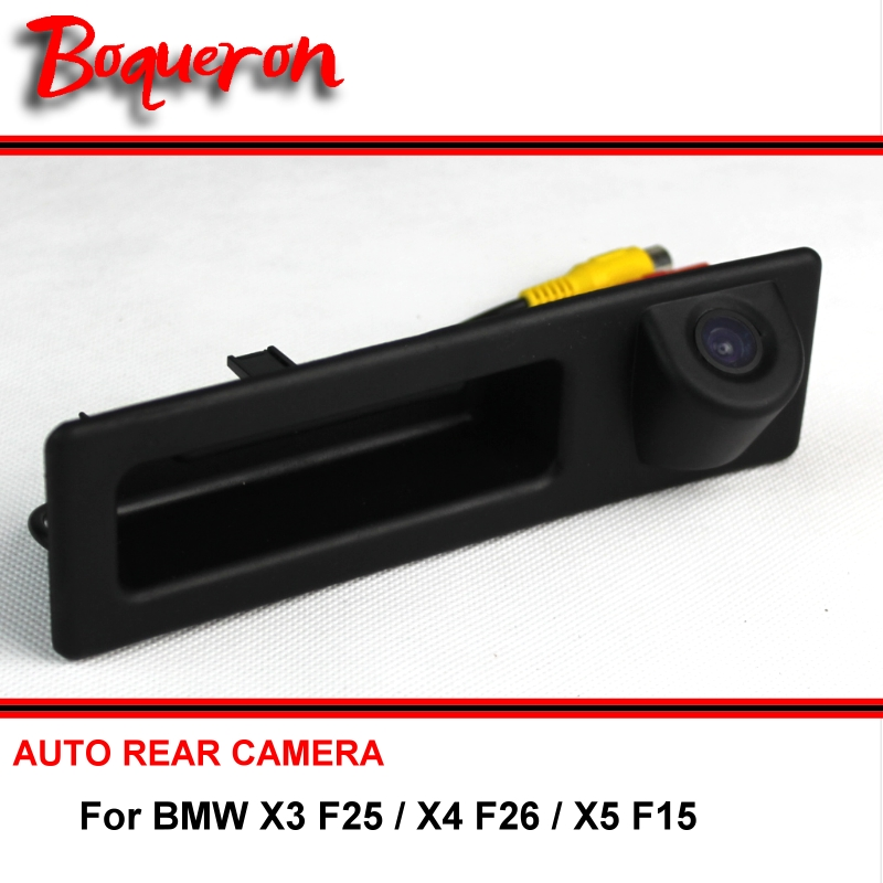 For BMW X3 F25 X4 F26 X5 F15 2010 ~ 2016 SONY HD Car Parking Reverse Rearview Backup Rear View Camera Night Vision Trunk Handle for suzuki sx4 hatchback car auto trunk handle backup rear view reverse parking camera camara kamera