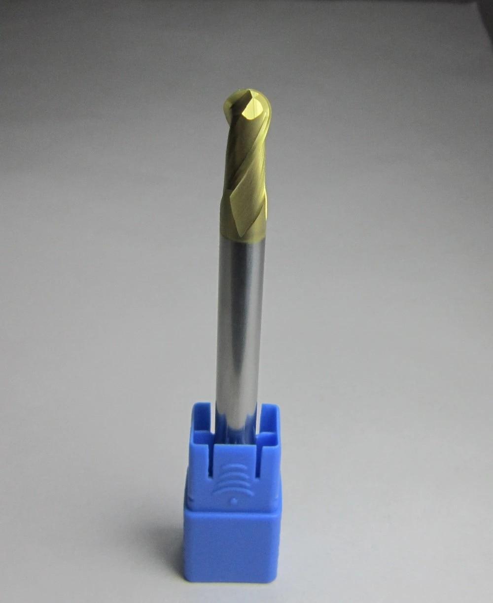 Ø 1mm R0.5 HRC58 Carbide Ball Nose End Mills machine milling cutter finishing