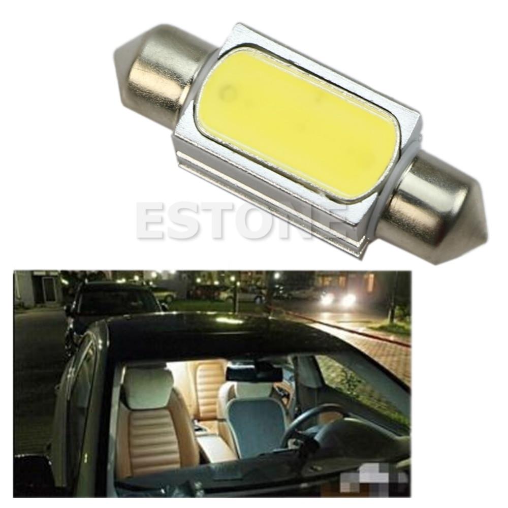 36mm Canbus No Error COB 3W LED White Car Dome Festoon Interior Light Bulb 12V