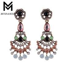 MYDANER 2017 Luxury Colorful Geometric Dangle Earrings Statement Boho Crystal Pendant Drop Earrings for Women Wedding Jewelry