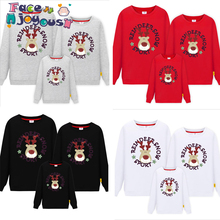 Family Clothing Set New Sporty Christmas Family Look Deer Mommy And Me Clothes Winter Mother Daughter Father O-neck Baby T Shirt
