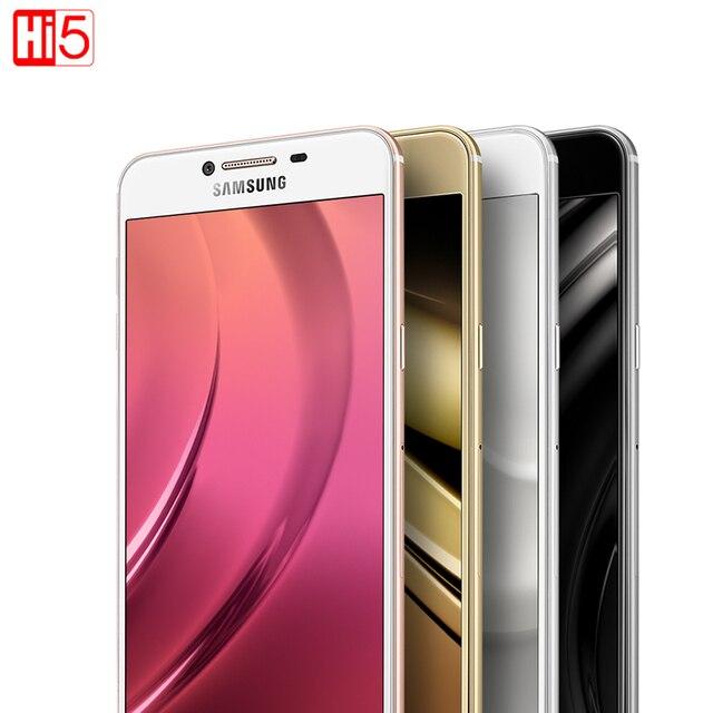Original Unlocked Samsung Galaxy C5 Mobile Phone 5.2 inch Octa-Core 4GB RAM 32GB/64GB ROM LTE 16MP Android 2600mAh Dual SIM