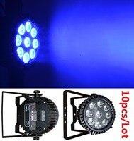 10x DJ Disco Par Led 9x10W RGBW Stage Light DMX Strobe Flat Luces Discoteca Party Lights Laser Luz Projector Lumiere Controller