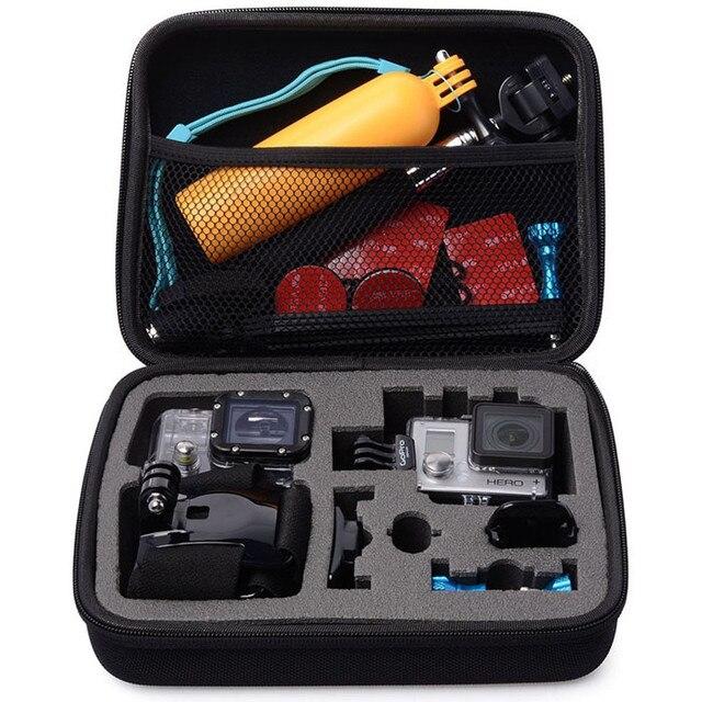 ポータブルトラベル収納ケースコレクションボックス保護移動プロヒーロー3/4 sj 4000 xiaomiyiアクションカメラスポーツポータブルパッケージ