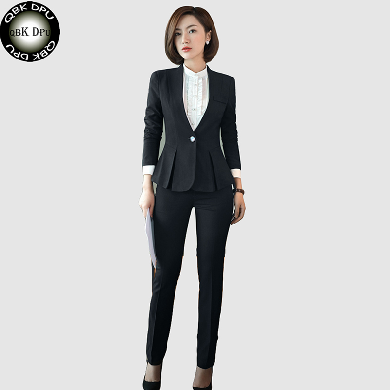 Women Blazer Work Blue Plus Size Slim Fit Female Blazer And Jackets White 4xl Fashion Single Button Ol Style Office Suits Ma119 Professional Design Back To Search Resultswomen's Clothing Suits & Sets