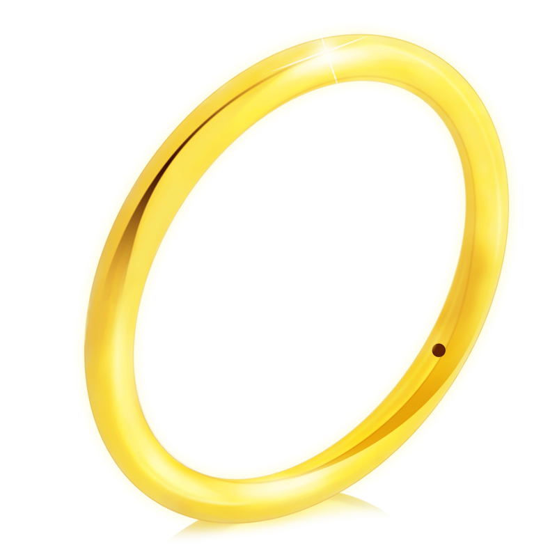 купить 3D 24K Yellow Gold Ring Women 999 Gold Ring Band 0.96g