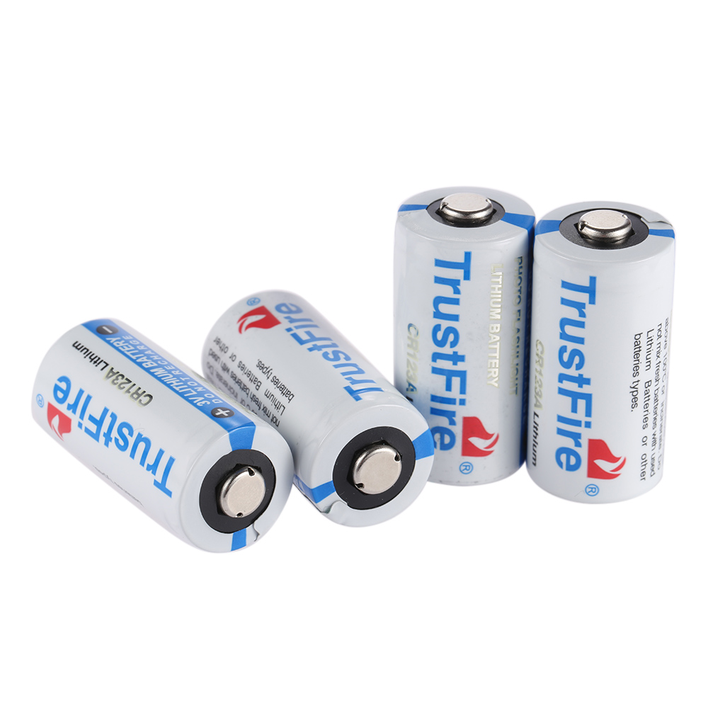 10PCS/LOT High Quality TrustFire Lithium CR123A 3V 1400mah Battery 3.0V lithium battery batteries Free Shipping
