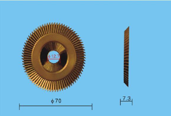 70 мм x 7,3 мм x 12,7 мм лезвие резака для ключей детали станка для резки слесарные инструменты