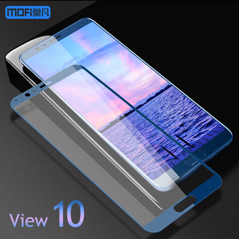 Honor V10 Glass Film MOFI For HUAWEI Honor View 10 Tempered Glass Film 2.5D Full Cover Protector V10 Tempered Glass 5.99'' image