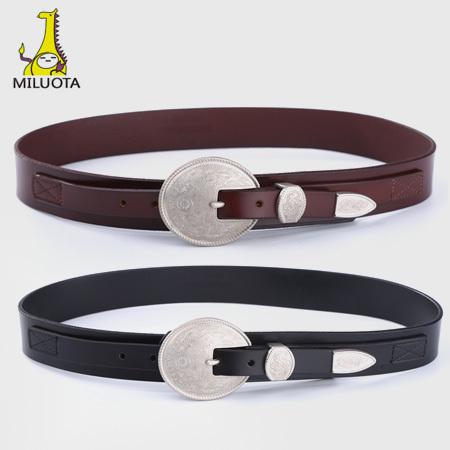 [Miluota] Projeto o mais novo 100% cintos de couro Genuíno para as mulheres de alta qualidade Retro mulheres cinto marca moda ceinture femme W147