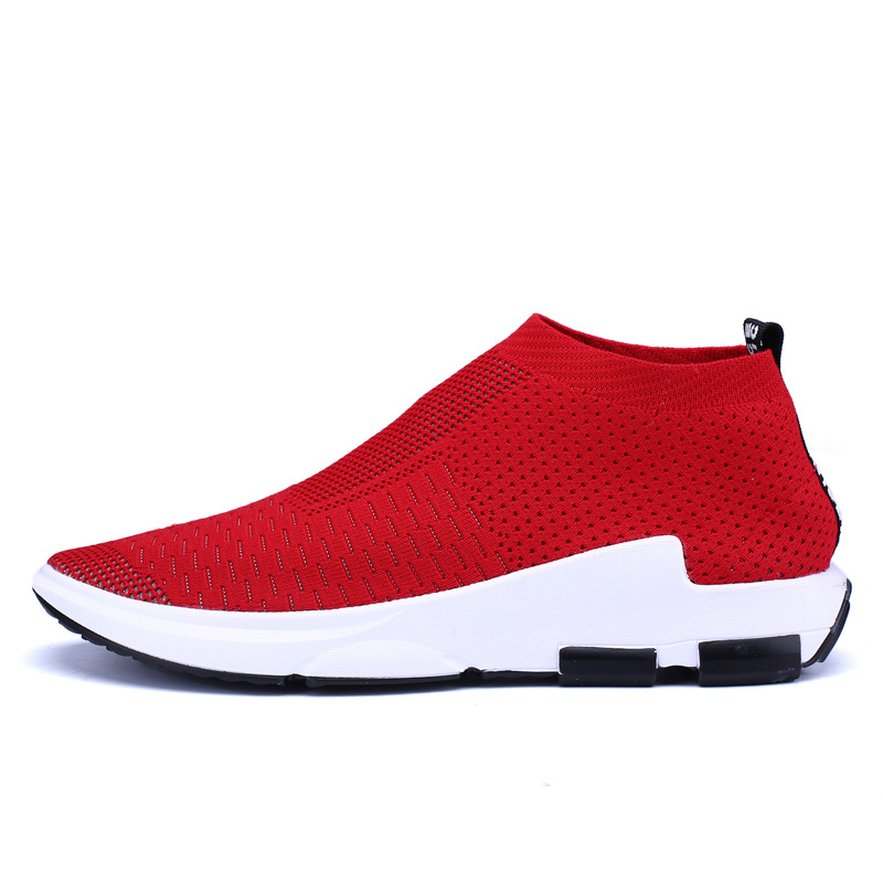 Running Shoes For Men Women Breathable Flyknit Sport Shoes Super Light Black Red Socks Sneakers Men Jogging Trainers Footwear