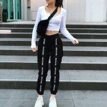 HOUZHOU 2019 Joggers Women Plus Size Pants Women Pantalones Mujer Black Women Trouser Streetwear High Waist Harajuku Cargo Pants