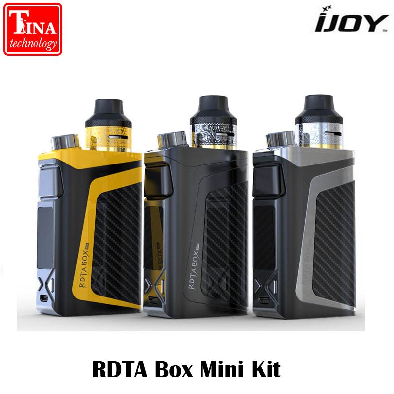 Prix pour 100% D'origine iJoy RDTA Boîte Mini Kit 100 W avec Haut-Po 2600 mAh batterie 6 ML e-réservoir de jus IBM-C2 Bobine BOÎTE MOD Vaporisateur Kit