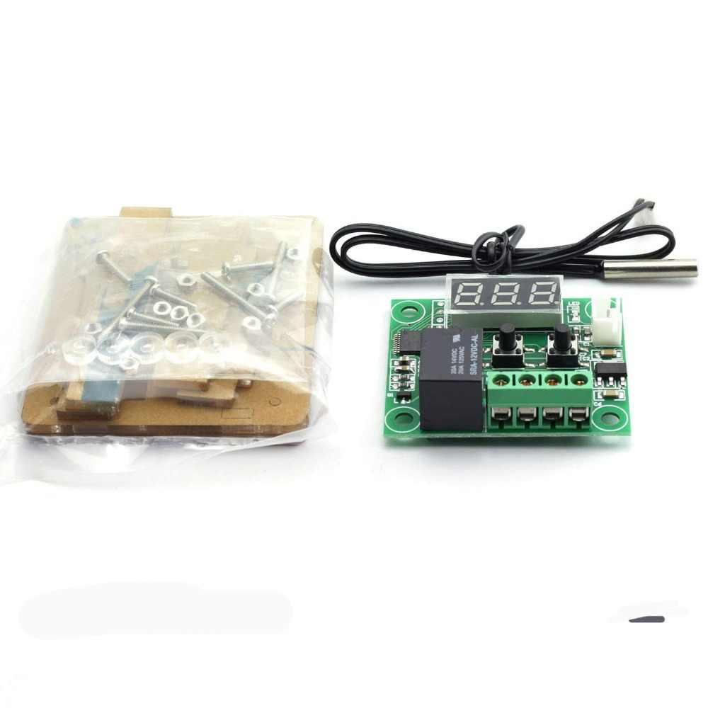 W1209 led digital termostato sensor de temperatura termômetro controle controlador módulo interruptor à prova dwaterproof água dc 12 v com caso