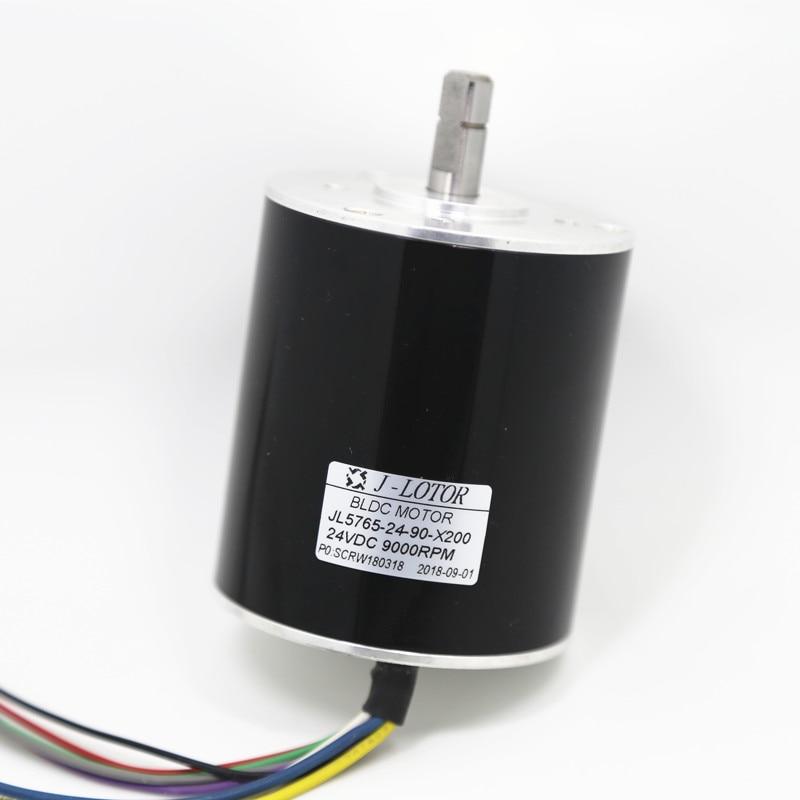 Brushless Motor DC 105V 3 phase 8 wire Ball Bearing Inner Rotor with Hall Sensor