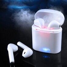 Vagens para Apple ar I7s TWS Mini Sem Fio Bluetooth Fone de Ouvido Estéreo Fone de Ouvido Intra-auriculares com Caixa De Carregamento Microfone para Todos Inteligente telefone