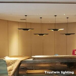 Image 2 - Replica delightfull coltrane loft moderno conduziu a lâmpada de suspensão luminária ouro preto asa alumínio tubo pendurado pingente lâmpada luz