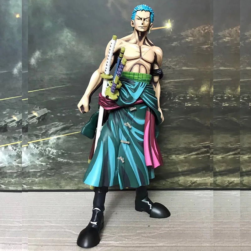 25cm One Piece Pop Roronoa Zoro Manga PVC Action Figure The Straw Hat Pirates Anime Collection Toys Boxed Model Doll Gifts WX324 new hot 17cm one piece roronoa zoro action figure toys doll collection christmas toy with box combat version suolo5