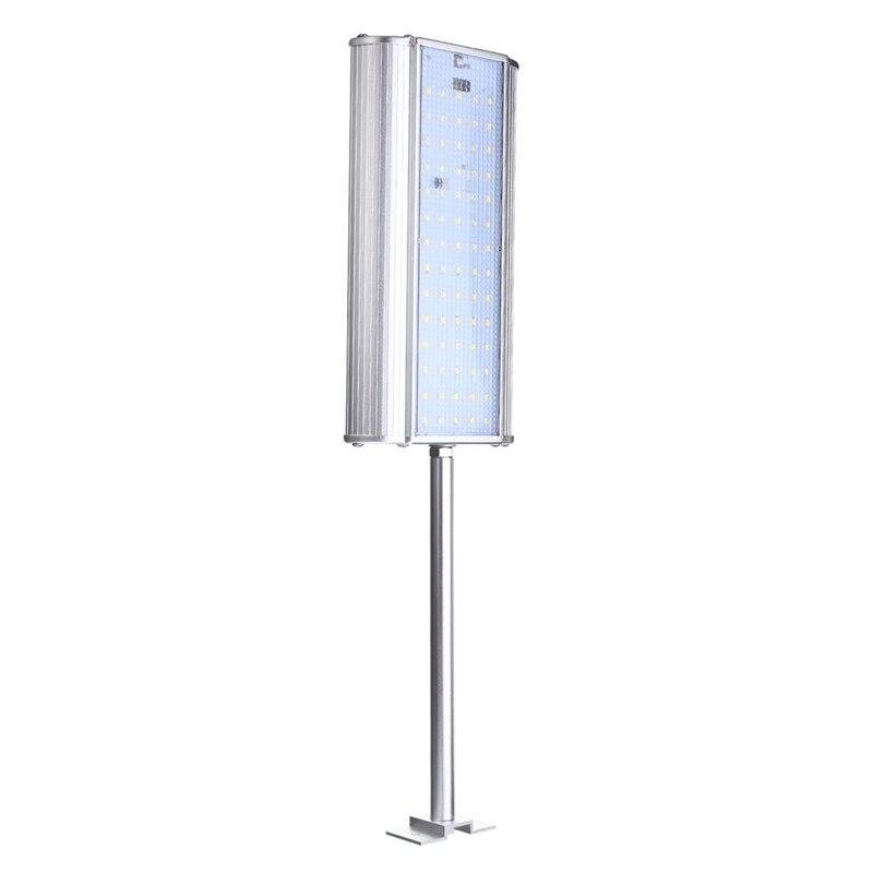 Microwave Motion Sensor SMD2835 70 Led Solar Light Solar Powered Outdoor Waterproof Garden Light Wall Street Lamp Pure white
