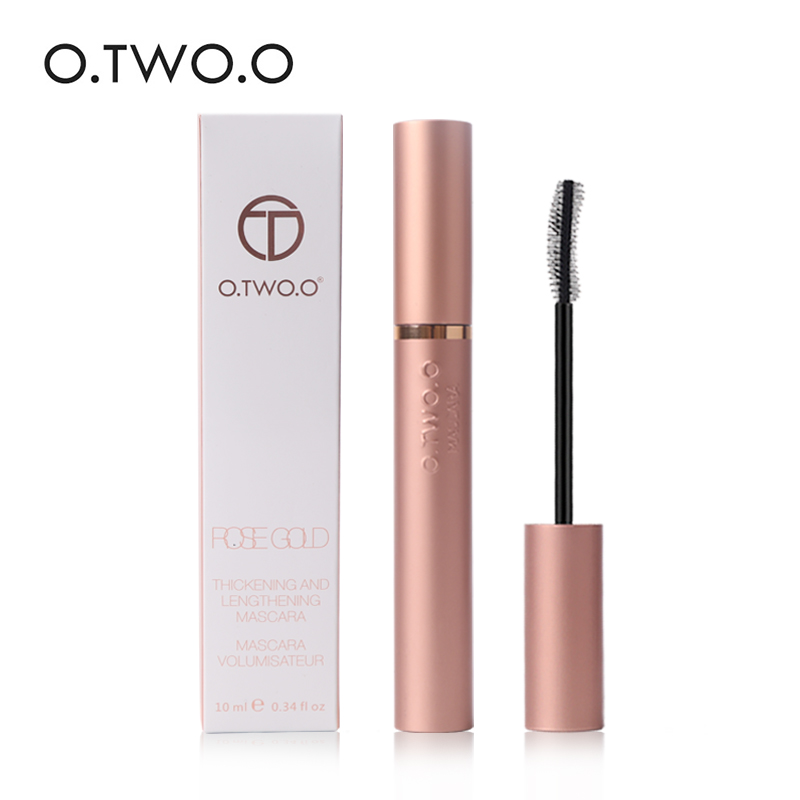 O.TWO.O 4d Silk Fiber Eyelash Mascara Waterproof Long Black Lash Eyelash Extension Eye Lashes Brush Eyes Makeup Easy To Wear