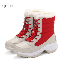 2020 winter new plus velvet high top womens shoes students with versatile waterproof snow boots womens tide cotton shoes