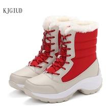 2020 zima nowe oraz aksamitne wysokie buty damskie studenci z wszechstronnymi wodoodpornymi butami śniegowymi damskie buty bawełniane