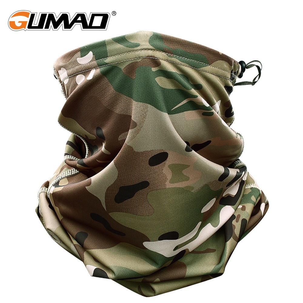 где купить Multicam Camouflage Tactical Neck Gaiter Tube Face Shield Sun Military Army Cycling Hunting Hiking Camping Scarf Bandana Mask дешево