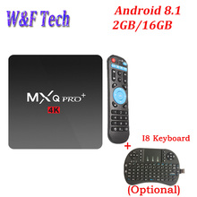 MXQ PRO MINI Android 8.1 TV BOX 1G 8G Amlogic S905W Quad Core 2.4G WIFI H.265 4k HD Media Player IPTV 2GB 16GB Smart TV BOX недорого