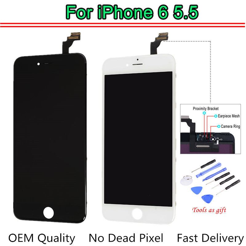 1PC OEM AAA Quality For iPhone 6 Plus LCD Replacement Screen LCD with Digitizer Assembly Display Tested One by One +Tools1PC OEM AAA Quality For iPhone 6 Plus LCD Replacement Screen LCD with Digitizer Assembly Display Tested One by One +Tools
