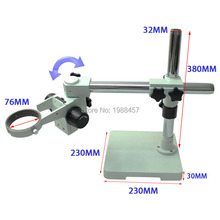 Wholesale prices Binocular Trinocular Stereo Microscope Support 360 Degree Free Rotation Adjustment Angle Ring Diameter 76MM