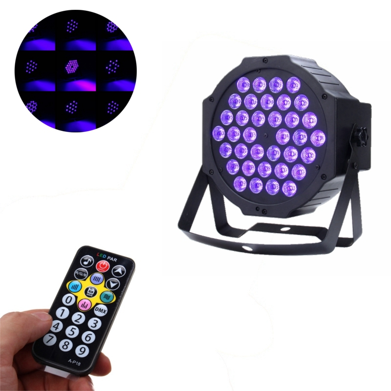 Newest Auto/Sound Active 36W LED Stage Light DMX LED Stage Lighting Effect Par Lamp For Party Disco Club Bar DJ Show KTV Lights 2xlot sales 2016 led par light 7x15w rgbwa 5in1 100w dj disco dmx stage lights par can led effect club party lighting free ship