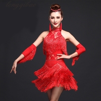 Ladies Latin Dance Costume Fringe Women Ballroom Dancing Dance Dress Tango Dress Samba Dress TB7012