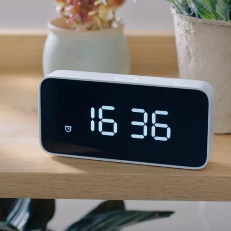 Xiao mi Xiaoai Smart Voice Diffusion réveil ABS Table Dersktop Horloges AutomaticTime travaux D'étalonnage avec mi maison app - 4