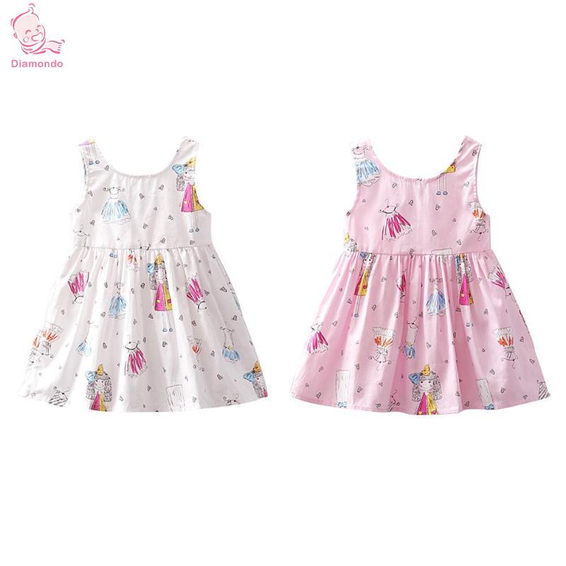 79e447610f41 Casual Baby Girl Ρούχα κορίτσια φόρεμα Αμάνικο φόρεμα κινουμένων ...