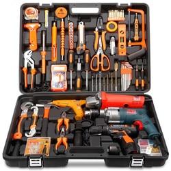 Haushalt werkzeuge paket Hardware set Elektrische bohrer hause elektriker wartung multi-funktionale tragbare hardware-tools